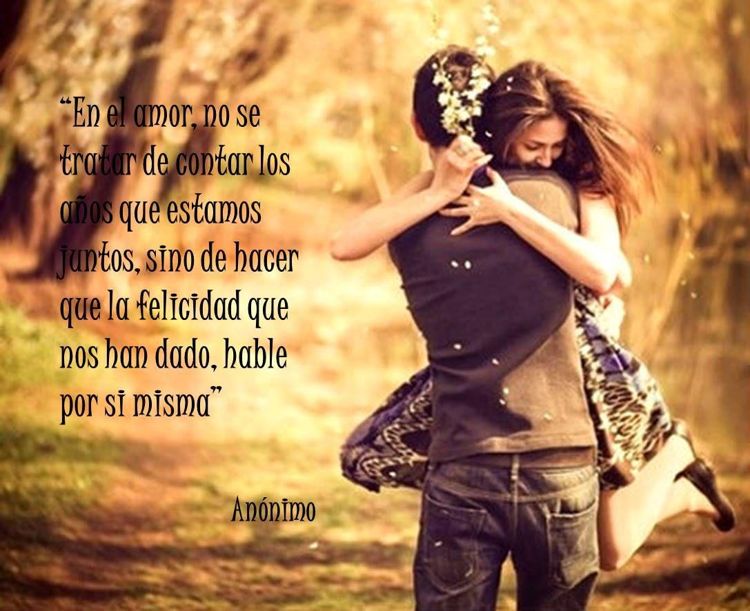 En el amor no se trata de encontrar los a±os que se estan juntos
