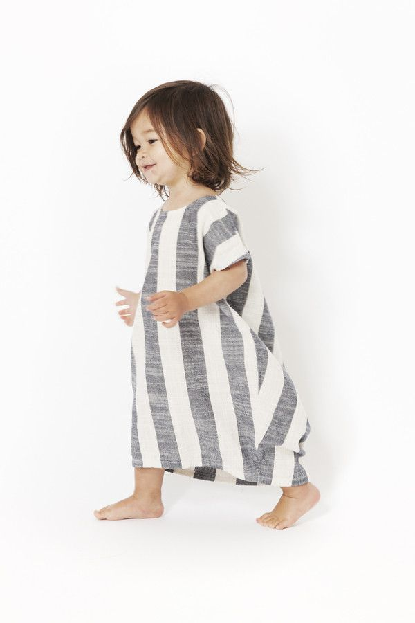 Black Crane Kids Pleated Cocoon Dress // Made in USA