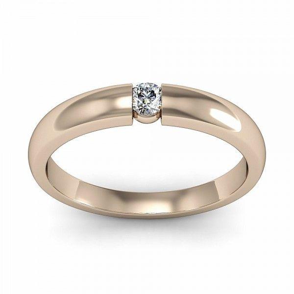 Spannring 0 1 ct Silber Diamantring aus 925 Silber mit Diamant 0
