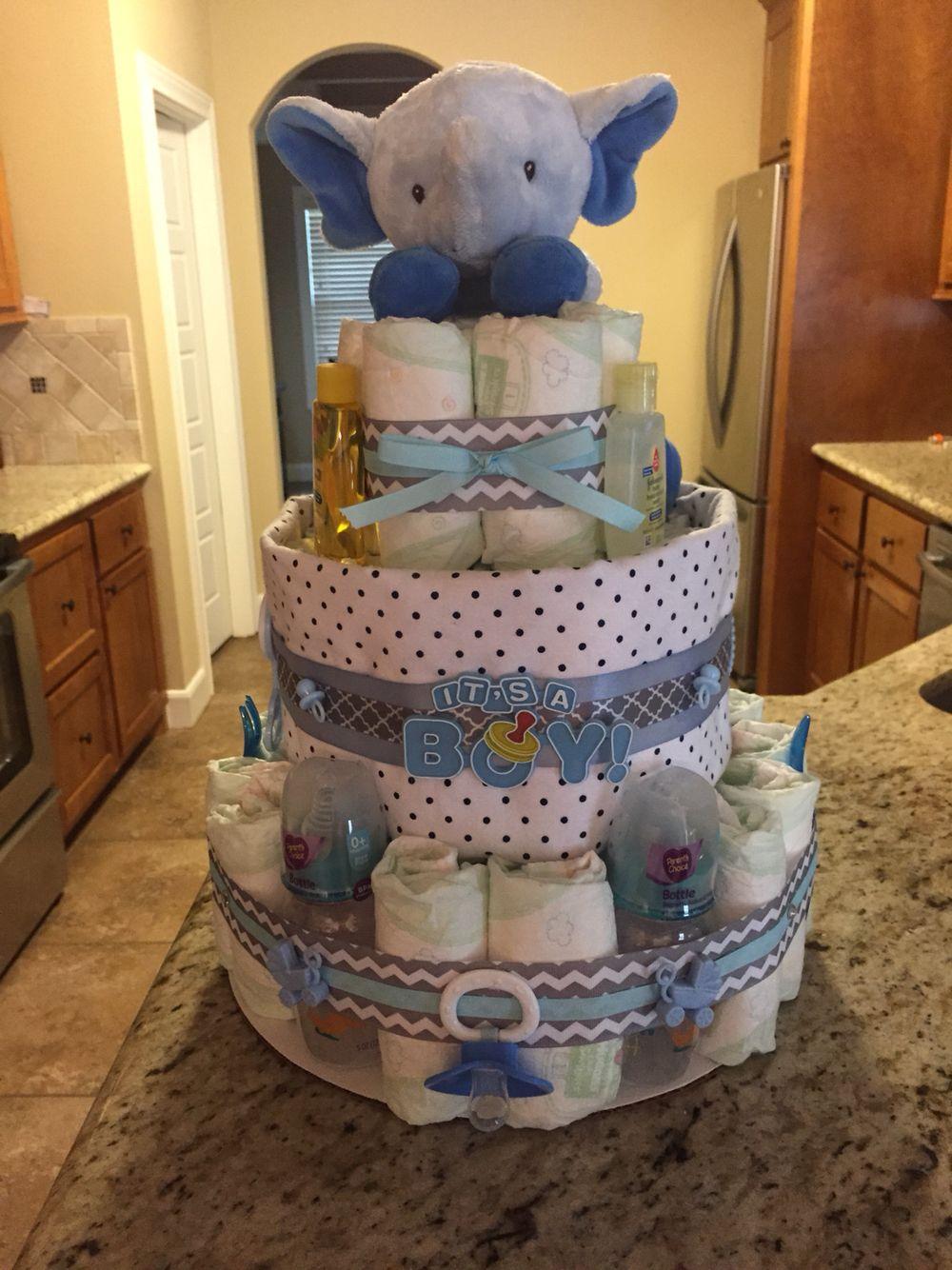 Elephant Diaper Cake | Casey's Creations | Pinterest ...