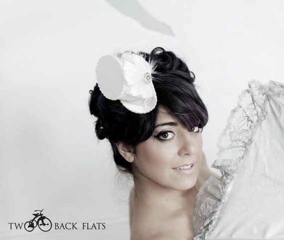 White top hat  Blanche by TwoBackFlats on Etsy, $90.00