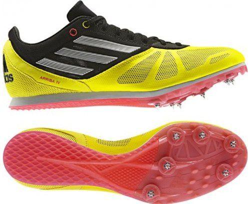 Save $ 10 order now ADIDAS Arriba 3 Men's Running Spikes, Yellow/Black,