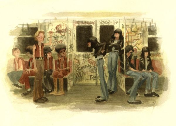 Ramones Meet the Warrior by Nathan Stapley http://natelbagel.tumblr.com/post/4392731802/trying-to-figure-out-these-guys-for-a-painting