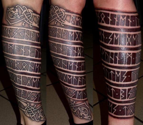 Dark sun tattoo bad ass runes rune tattoos - Tatouage runes viking signification ...