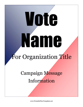 This patriotic election flyer is a free printable that is ...