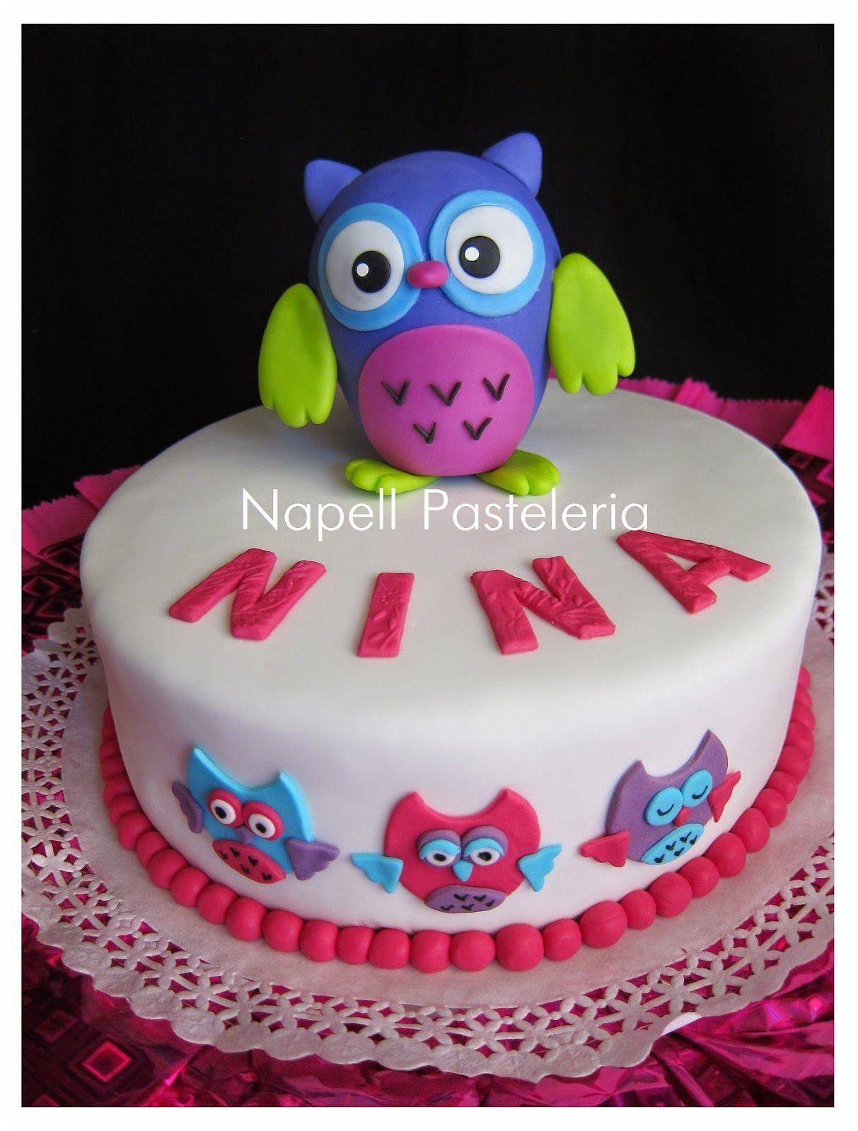 torta de buho pinterest Buscar con Google Cumplee