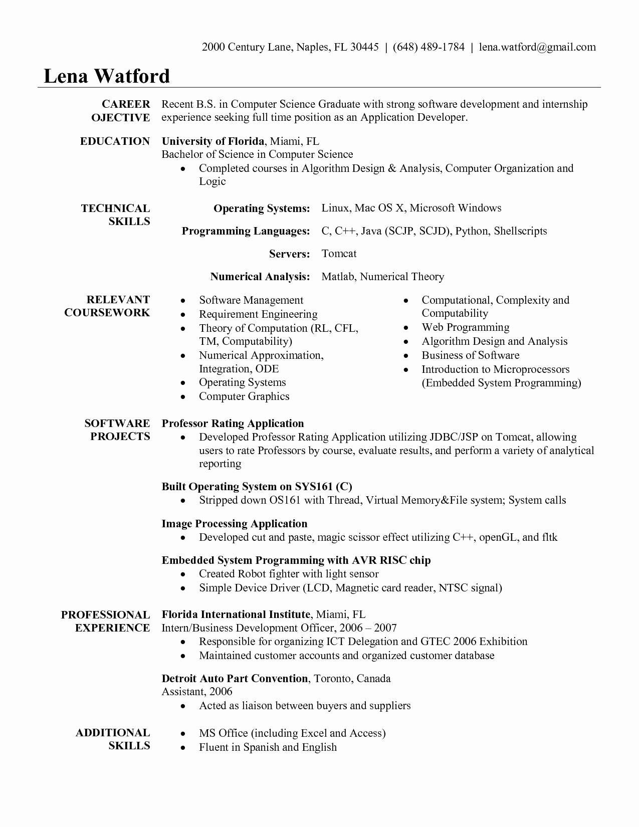 Lovely Beaufiful Salesforce Developer Resume Samples Job Resume Examples Resume Software Engineering Resume