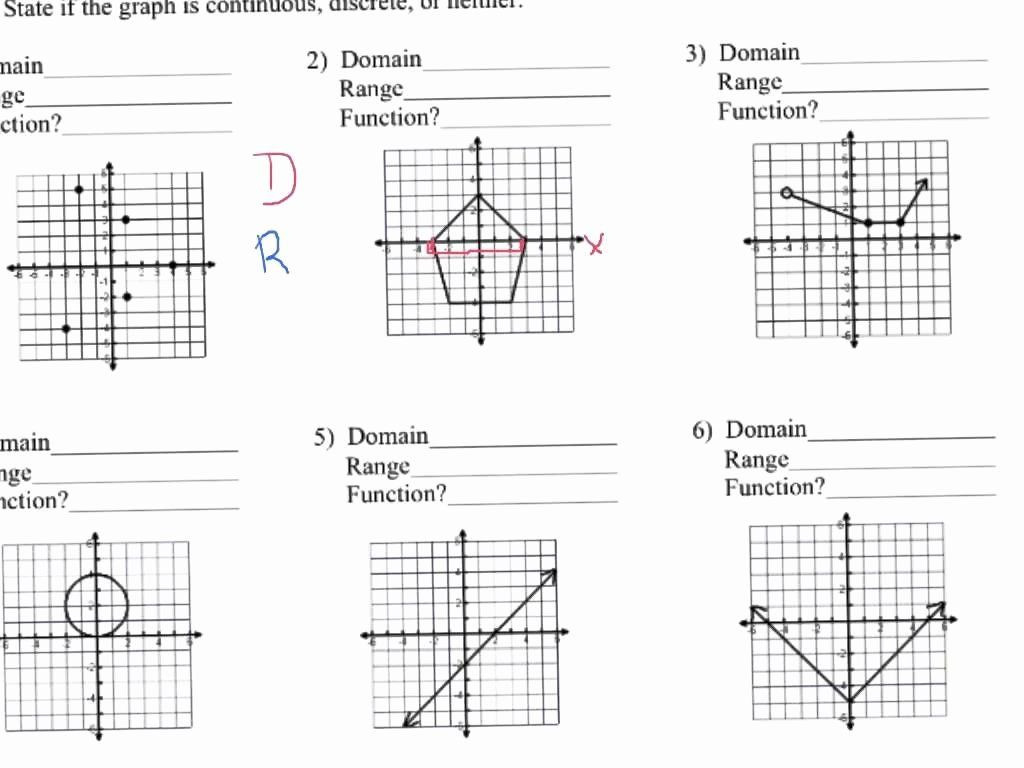 Domain And Range Of Exponential Functions Worksheet With