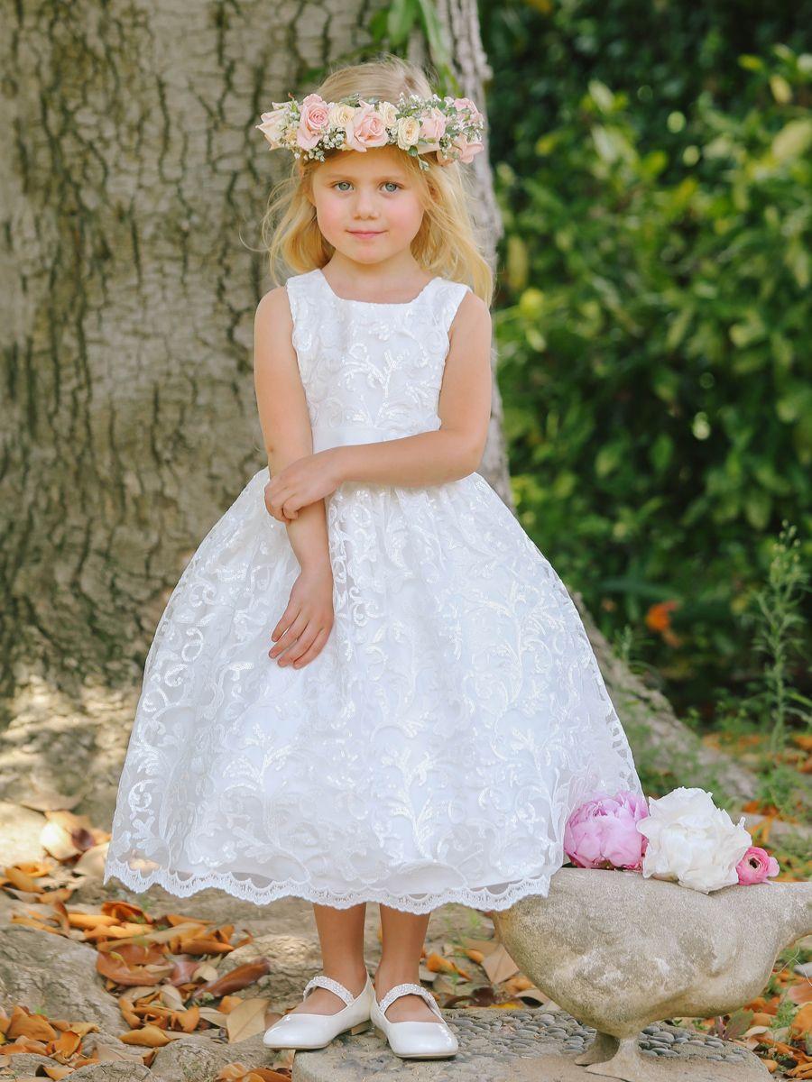 Girlus sleeveless dress with beautiful sequin wedding ideas