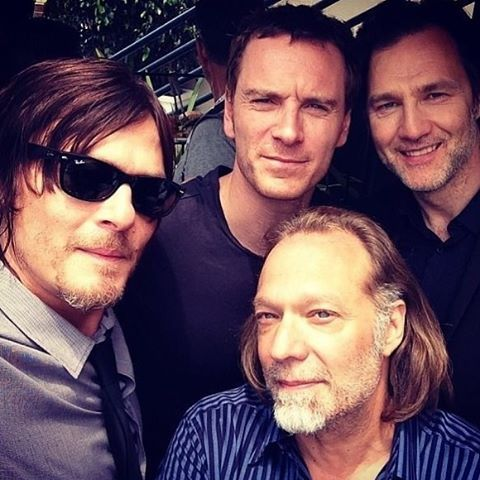 • the walking dead is freaking my freak out  # #thewalkingdead #normanreedus #gregnicotero #michaelfassbender