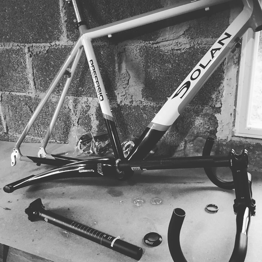This afternoon I'm #Dolan bike building