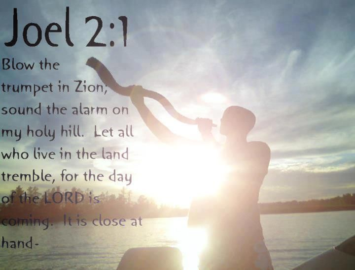 Blow the trumpet (Shofar) in Zion.....