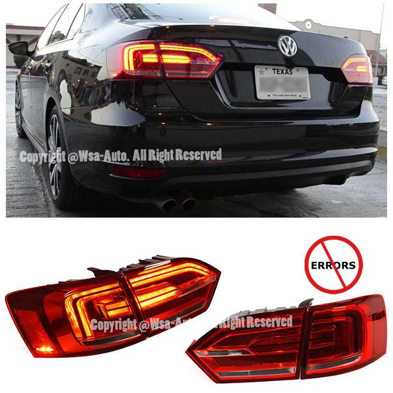 For 1114 VW Jetta MK6 LED Rear LED Strip Tail Light Error