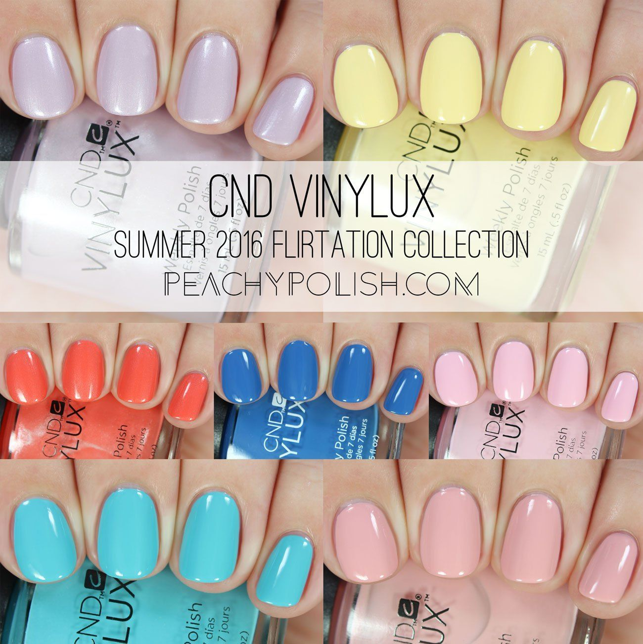 CND Vinylux Summer 2016 Flirtation Collection | Peachy Polish | Nail ...