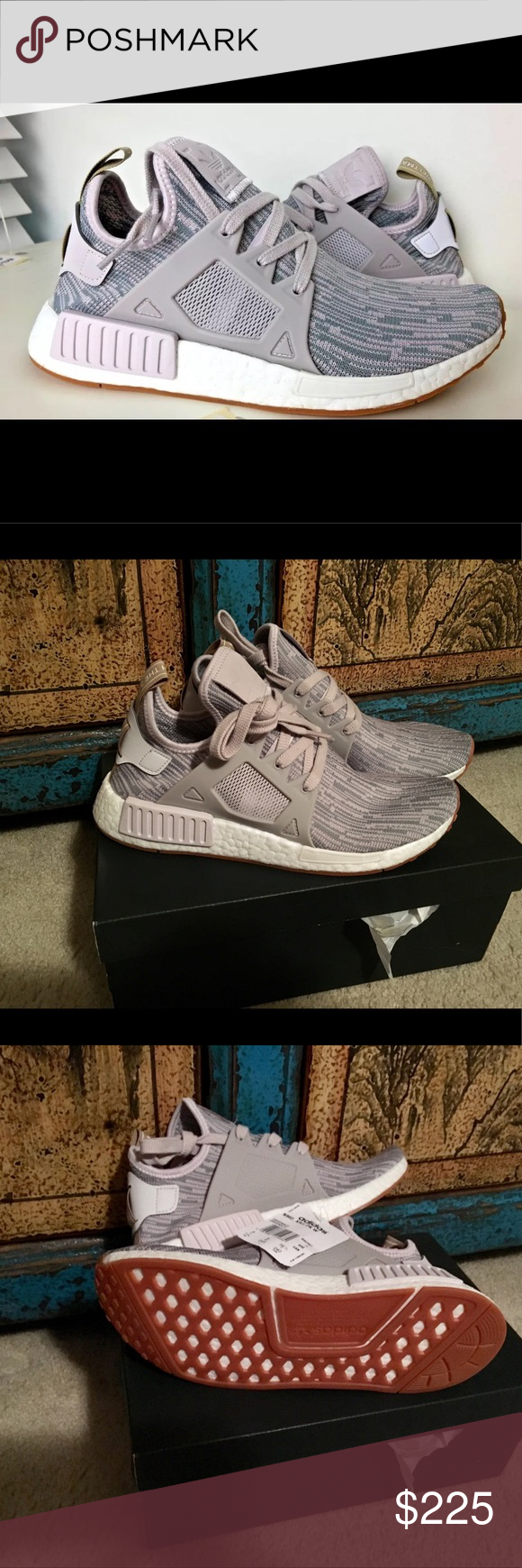a5ebb562df99b Adidas NMD XR1 (women s 7.5) New in box Adidas NMD XR1 PK Gum Pack Primeknit  Sneakers Ice Purple Grey BB2367 Size  Women s 7.5 Condition  New in original  ...