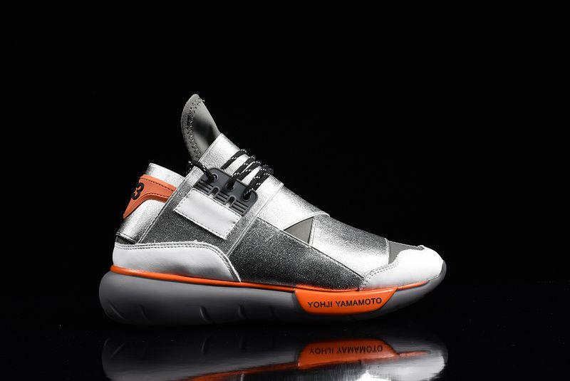 47170d829509 2018 Popular Adidas Y3 Qasa High Yohji Yamamoto Silver Grey Orange ...