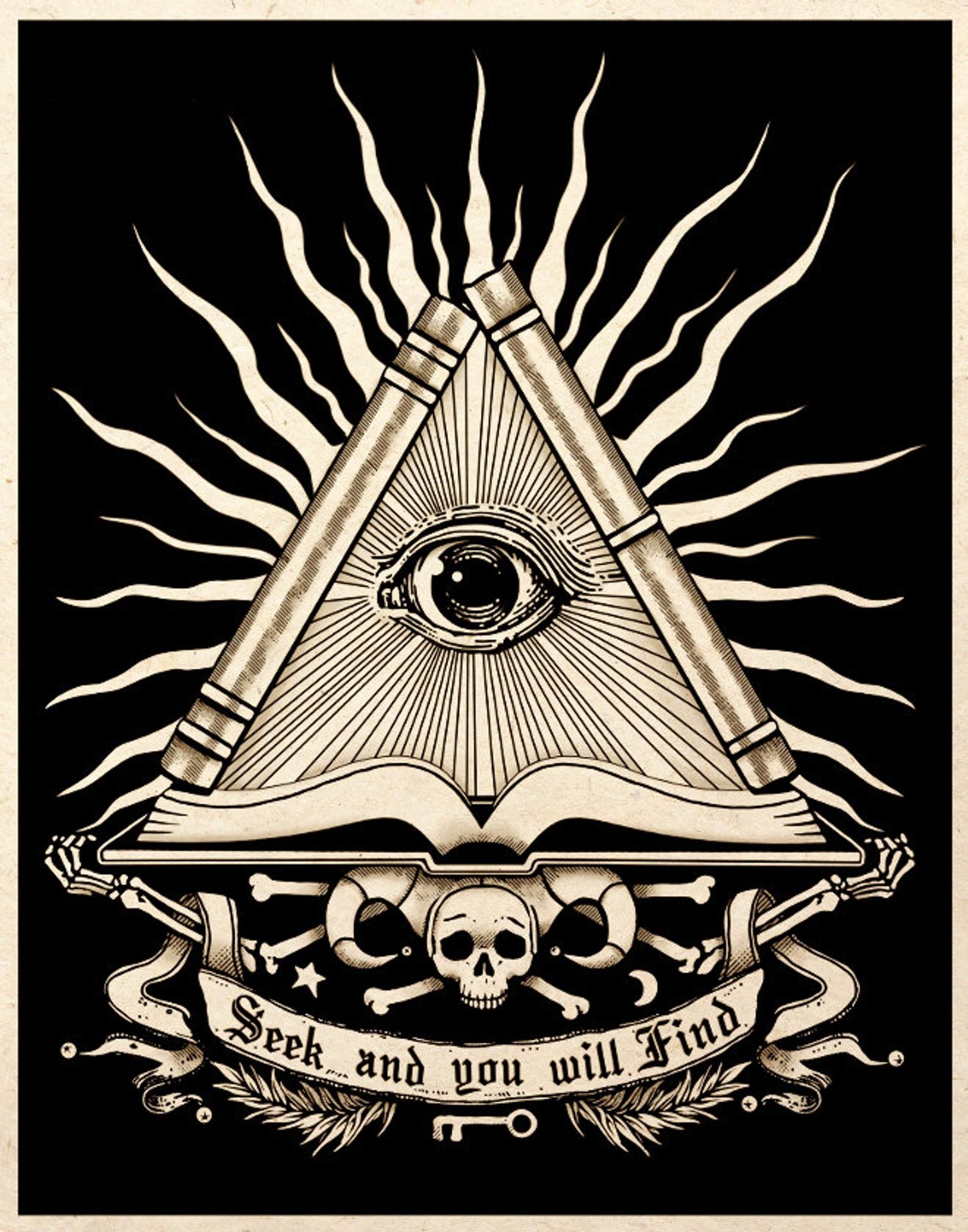 All Seeing Eye Esoteric Alchemy Art Print Gothic Macabre