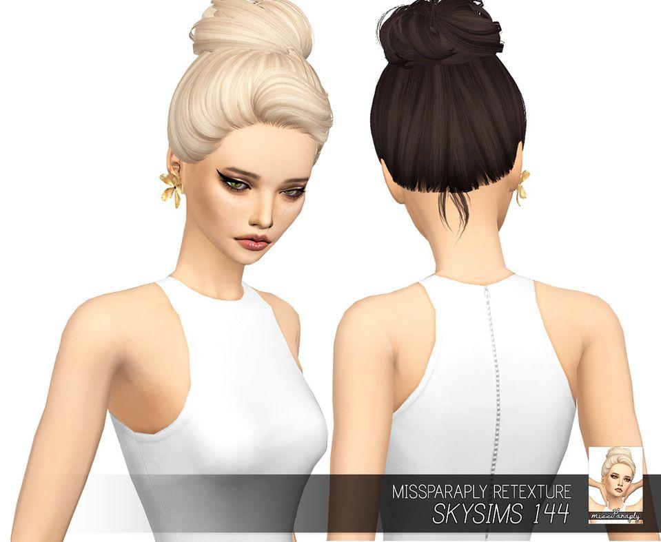 custom content hair sims 4 skysims 144 solids sims hair