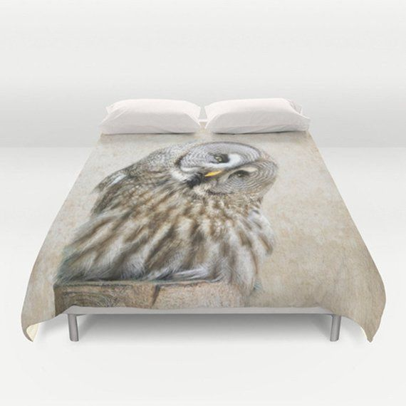 standard pillow sham  king pillow sham  owl decor