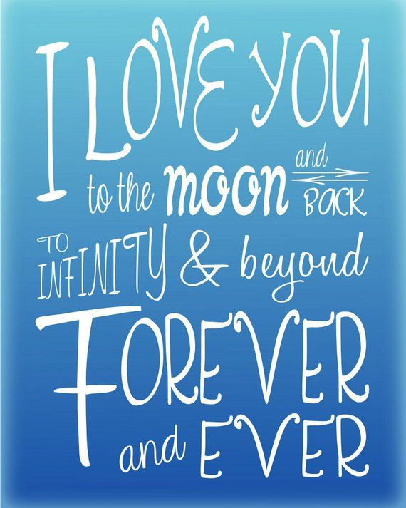 Instant Download I Love You To The Moon And Back Infinity Etsy I Love You Son Infinity Quotes Love You