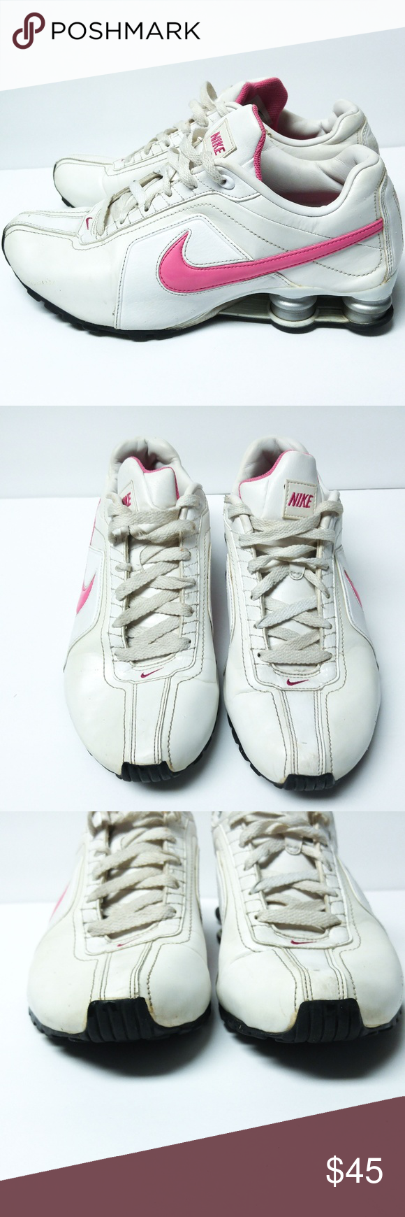 check out 07f3f a36fe Nike Shox Sz 10 Conundrum White Pink Nike Shox Sz 10 Conundrum White Pink  Great Condition
