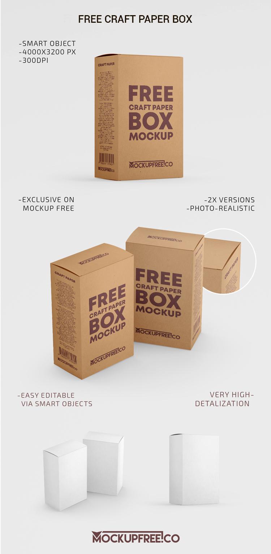 Download Craft Box 2 Free Psd Mockups Download Box Mockup Mockup Free Psd Free Packaging Mockup