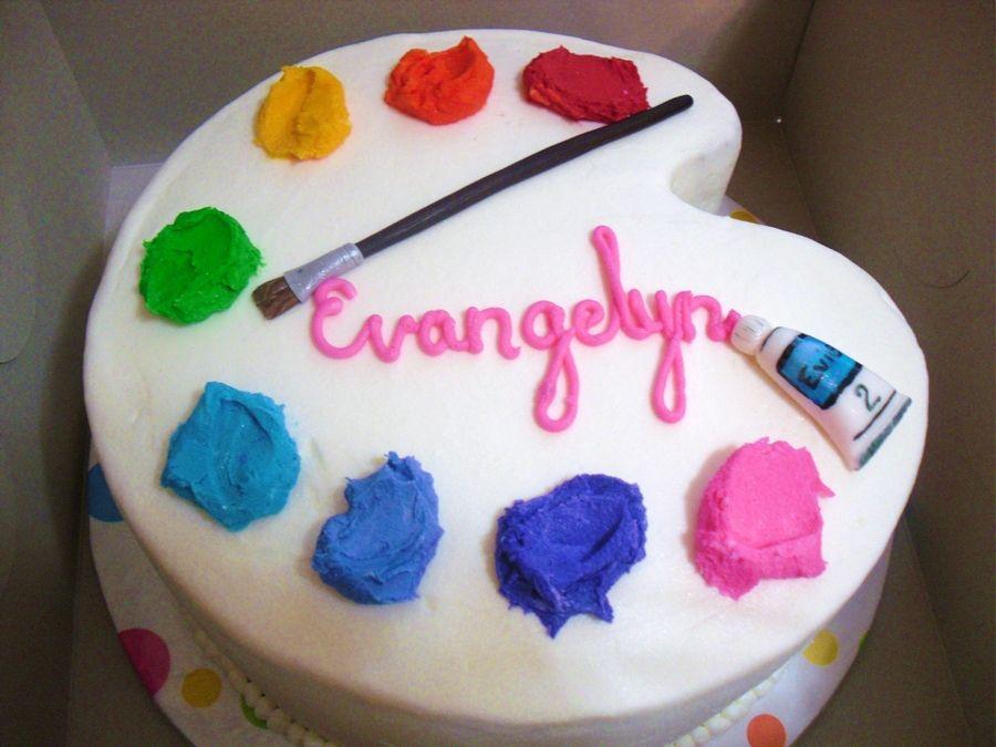 Paint Palette Cake Birthday Party Cake Art Birthday Cake Art