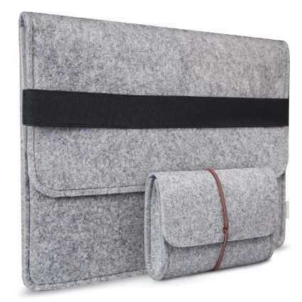 Inateck 13,3 Macbook Air Hülle Ultrabook Laptop Tasche Filz Sleeve Speziell für Macbook Pro 13 Retina und Macbook Air