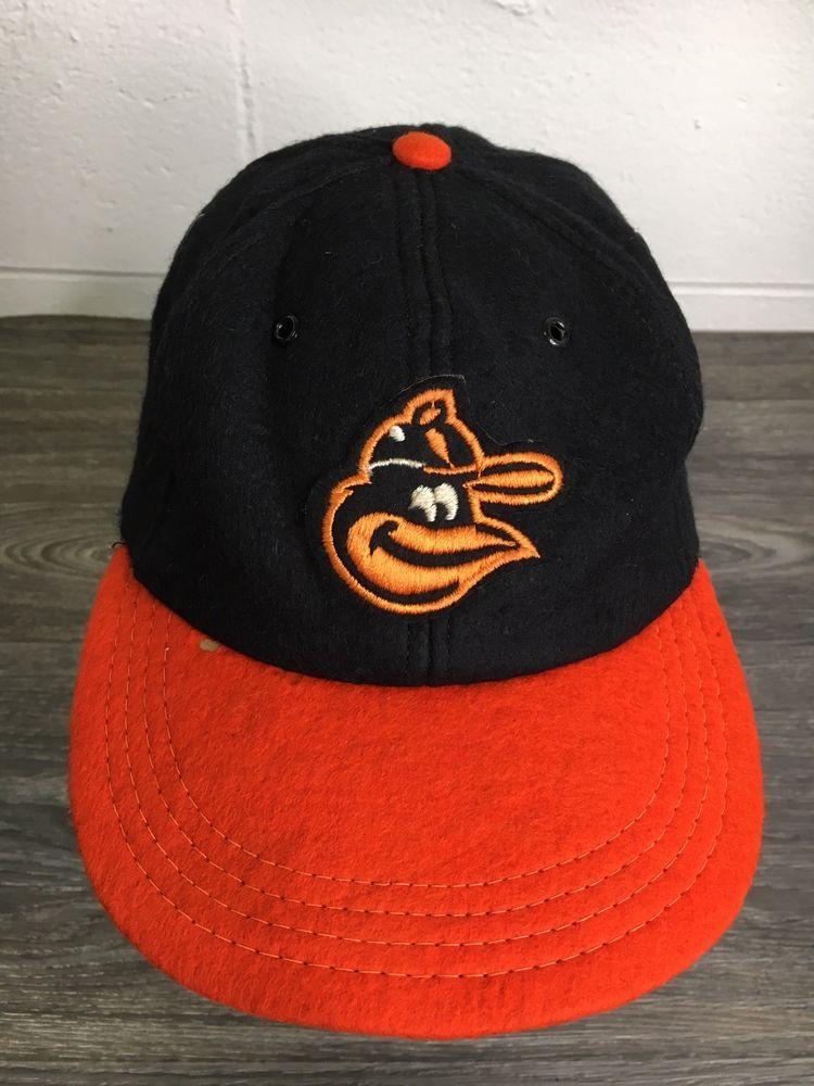 17e2338c5a4 Baltimore Orioles Vintage Hat 1968 60s MLB Wool Baseball Fitted Rare Large   MLB  BaseballCap