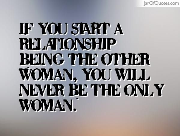 A Relationship Woman Being Other The In