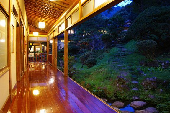 Japanese architecture that is integrated with nature