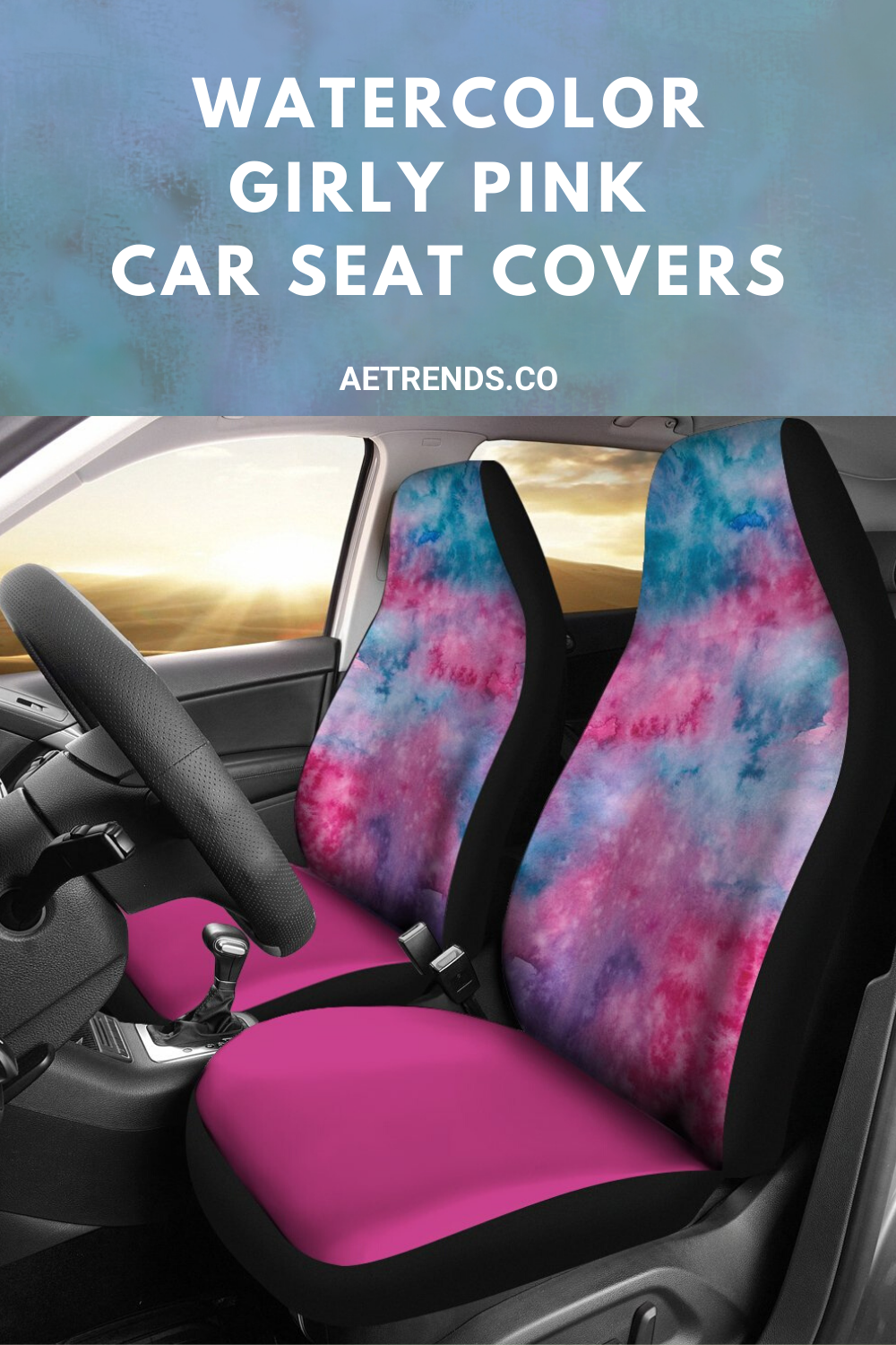 Watercolor Girly Pink Car Seat Covers in 2020 Pink car