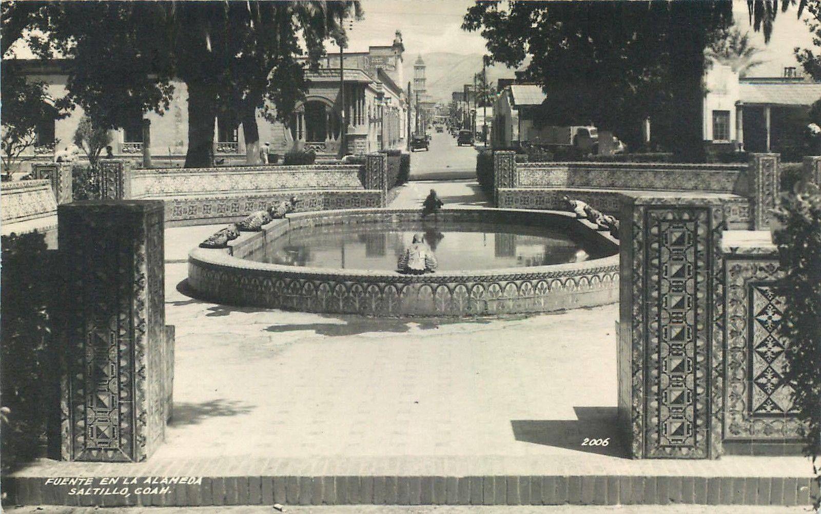 La Fuente De Las Ranas Antes De Codornices Hacia 1940 Desaltillo Com Codornices Ranas Fuentes