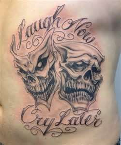 laugh now cry later by chippyj d4ebmnqjpg graphic design logos pinterest crying tattoo. Black Bedroom Furniture Sets. Home Design Ideas