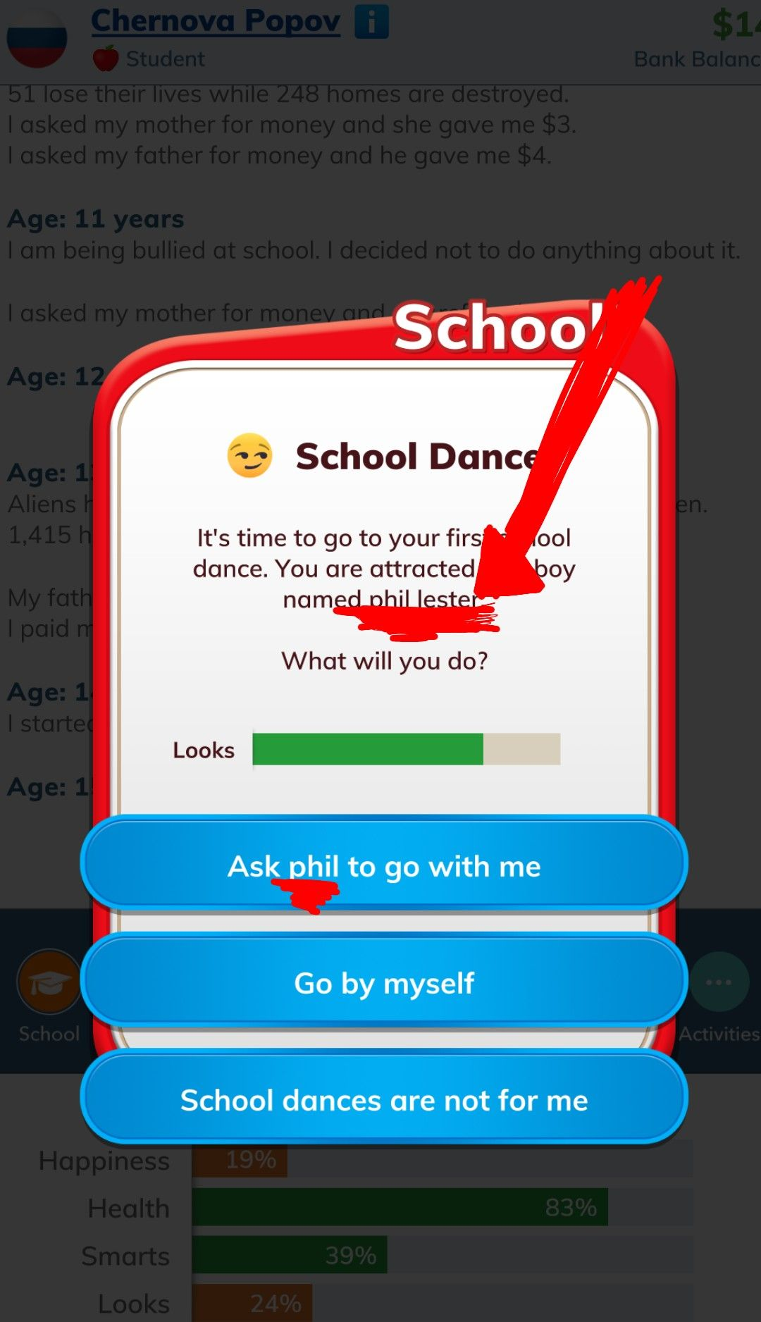 This happened while i was playing bitlife dan and phil