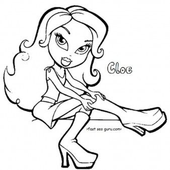 printable bratz cloe coloring pages