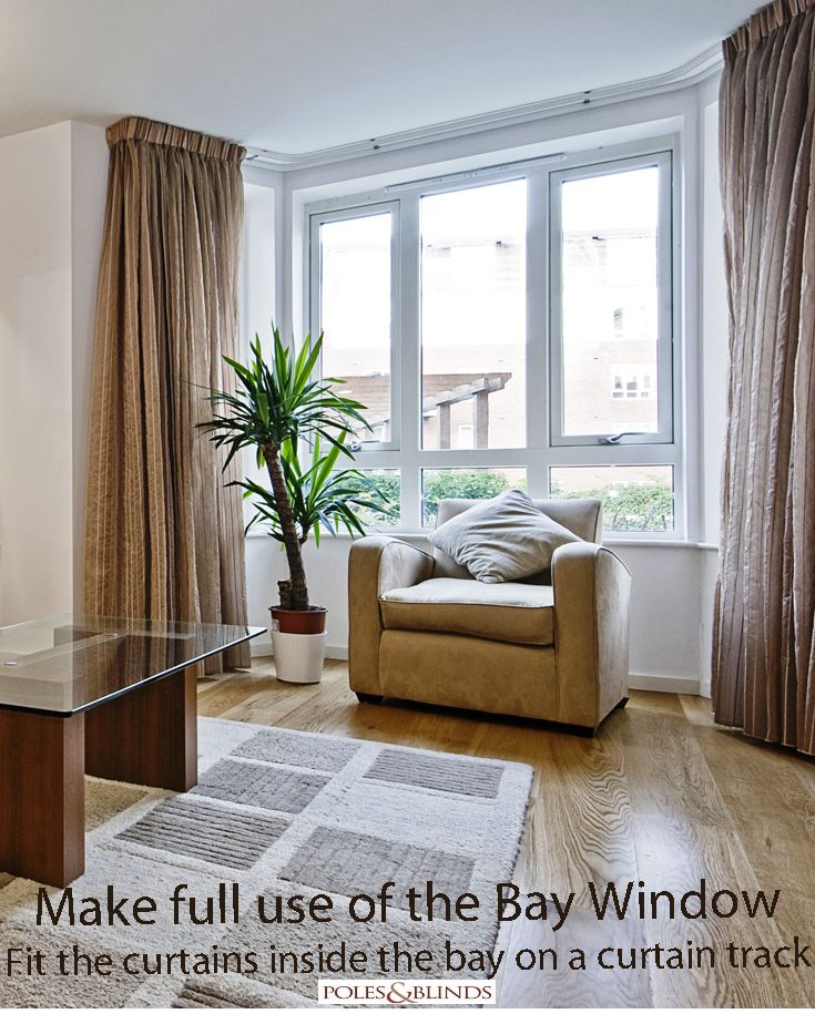 Curtain Tracks Are Easy To Fit In A Bay Window And Blend