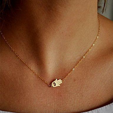 [Xmassale] collar de moda shixin® mano de oro pendiente de la forma (1 unidad) – EUR € 1.37