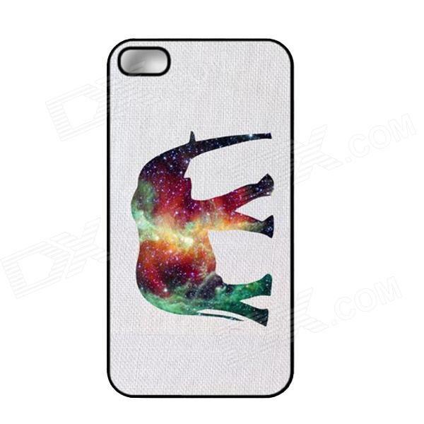 Elonbo J1A12 Симпатичные Слон Paint Защитная ПК Жесткий чехол для Iphone 5/5 с - белый