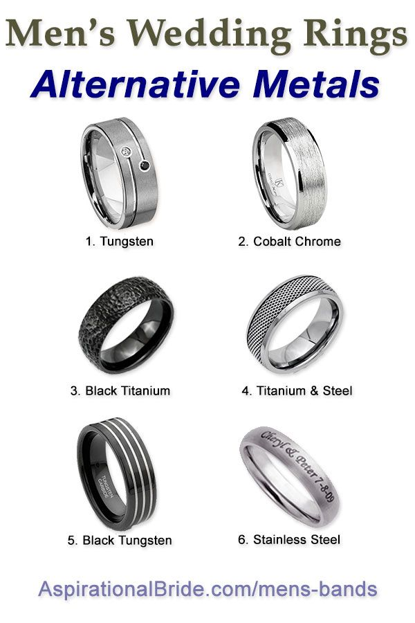 Men S Wedding Ring Metal Guide Alternative Band Metals Are Tungsten Anium Cobalt And Stainless Steel There Details About Where To Get