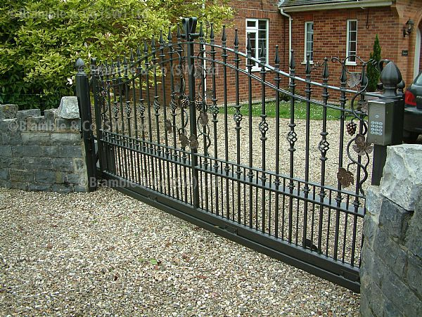 Wrought Iron Electric Sliding Cantilever Gate In Chard Somerset