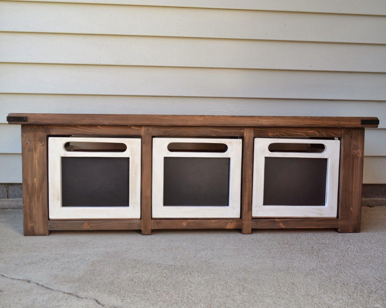 Finelooking three door built in storage entryway bench with oak