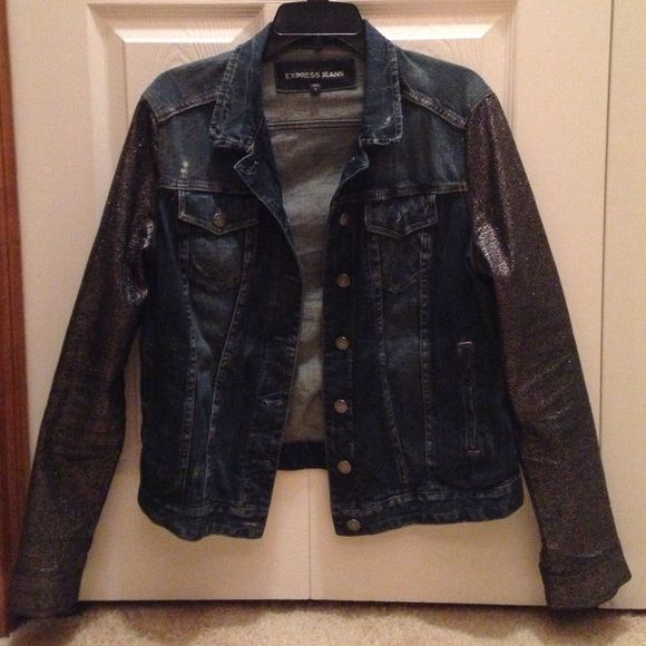 Express Jean Jacket Express brand jean jacket with black and ...