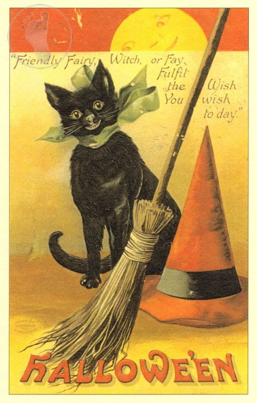 Vintage Halloween Decorating This cute art by StompingGrounds - halloween decorations vintage