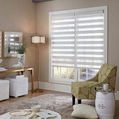 Blinds Com Signature Flat Sheer Shades Have An Upscale Elegant Look Budget Friendly Living Room Sheer Shades Window Treatments Living Room