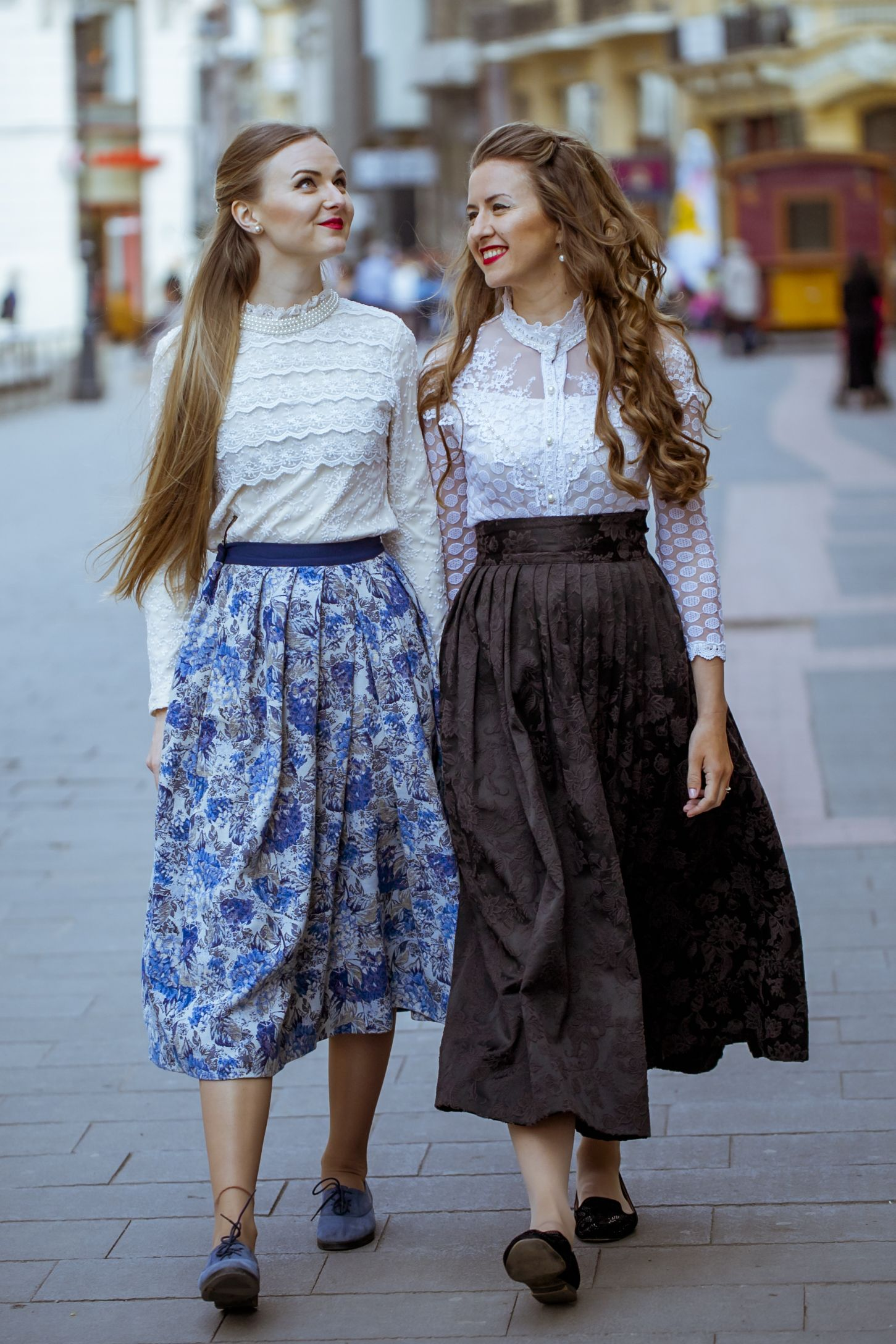 6fa89f941b A vintage skirt, which cut the classic long length and still keep the old  style