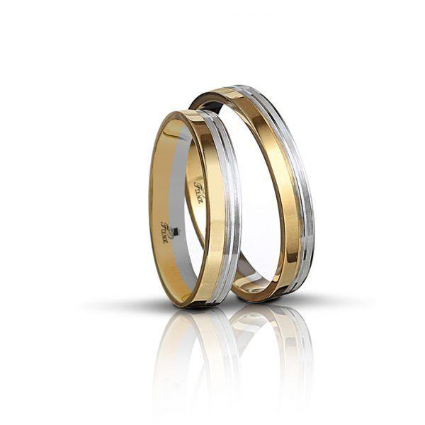 Βέρες γάμου Tselos δίχρωμο χρυσό Κ14 725Ε44ΔΜ3  69baf1851be