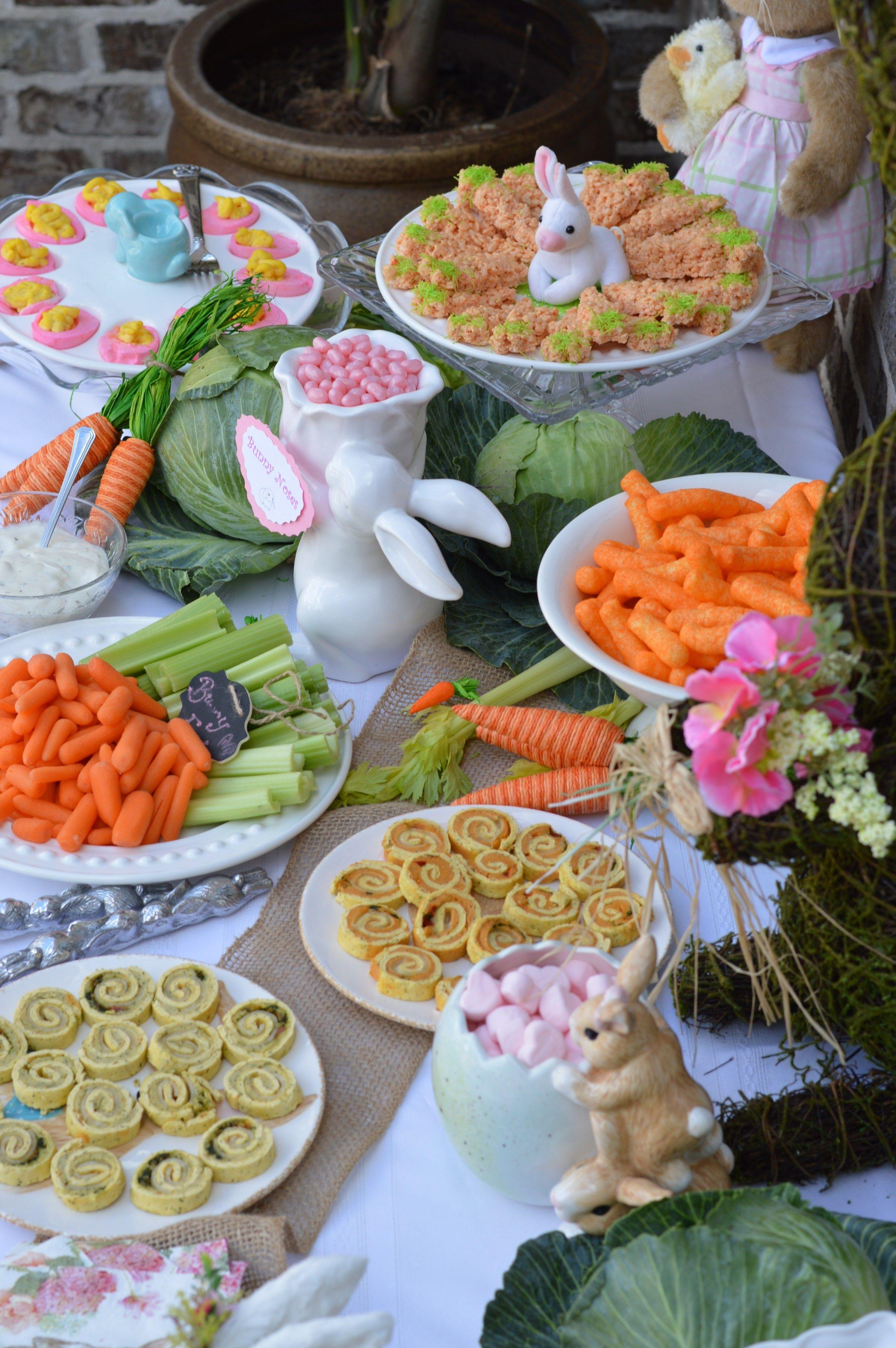 Great Decor Food Ideas For Bunny Birthday Party Some Bunny Is One Party Food 1st Birthday Bunny Birthday 1st Birthday Foods