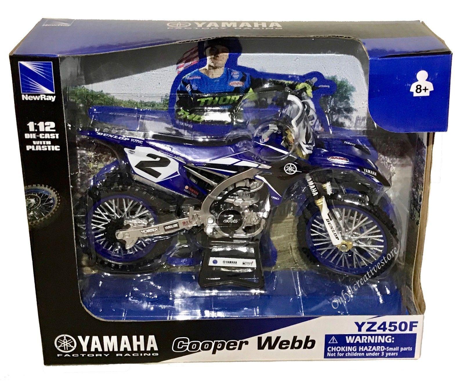 Yamaha YZ450F #2 Cooper Webb 2017 Motocross 1:6 Model 49513 NEW RAY