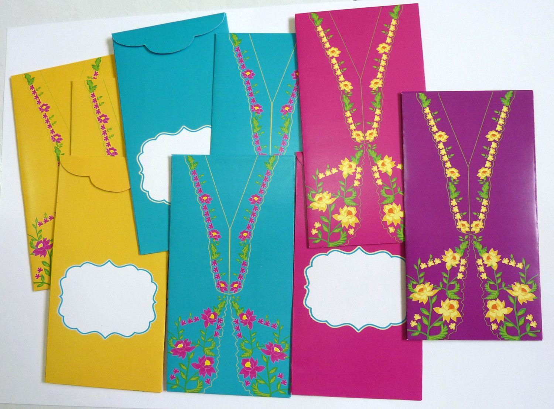 Angpau Envelope Peranakan Design By Me Motif Nonya Kebaya Ampau 1 Paket